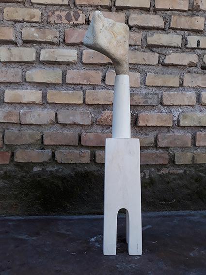 Acquedotto.3 limestone sculpture 2020