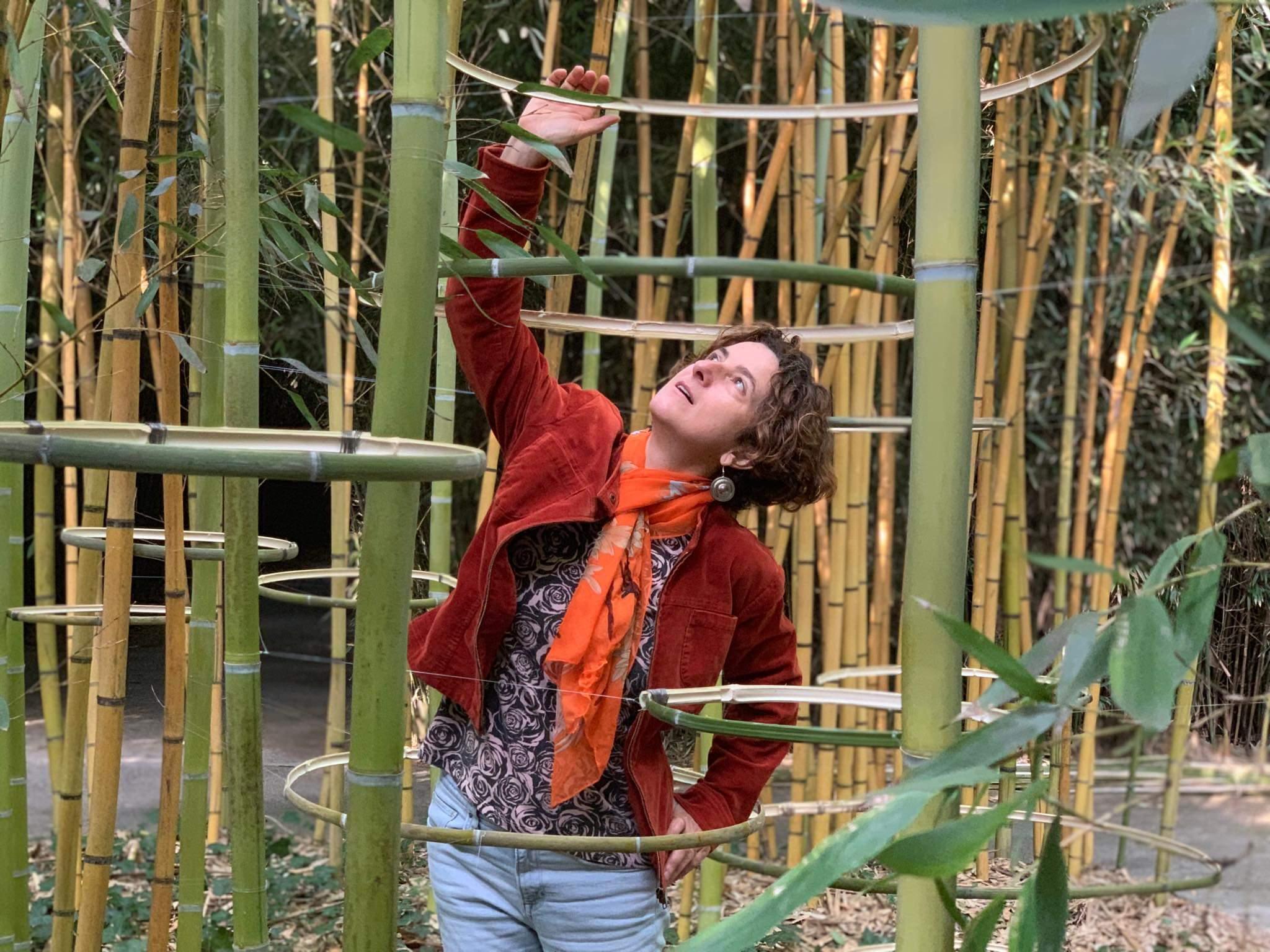 Condizione sospesa Bamboo artwork realized in Labirinto della Masone